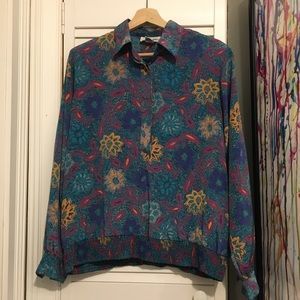 Vintage Beautiful Ugly FLOWER Button Up Shirt - 14